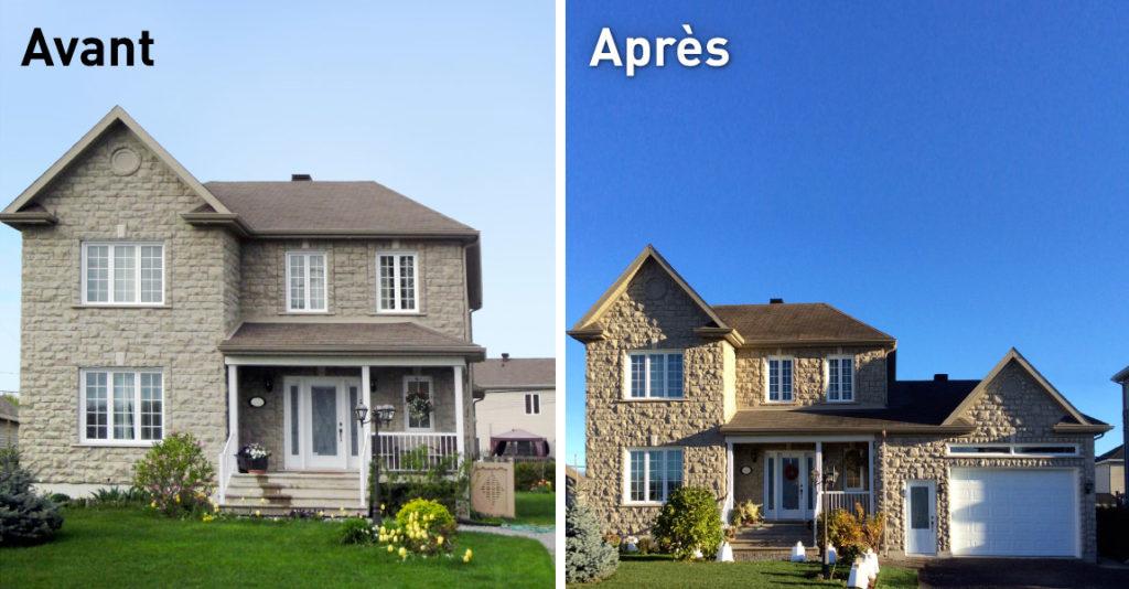 Transformation immobilière ajout d'un garage