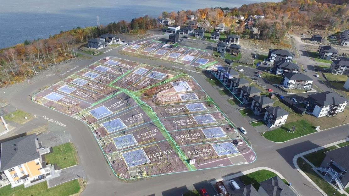 Terrains disponibles quartier Roc-Pointe