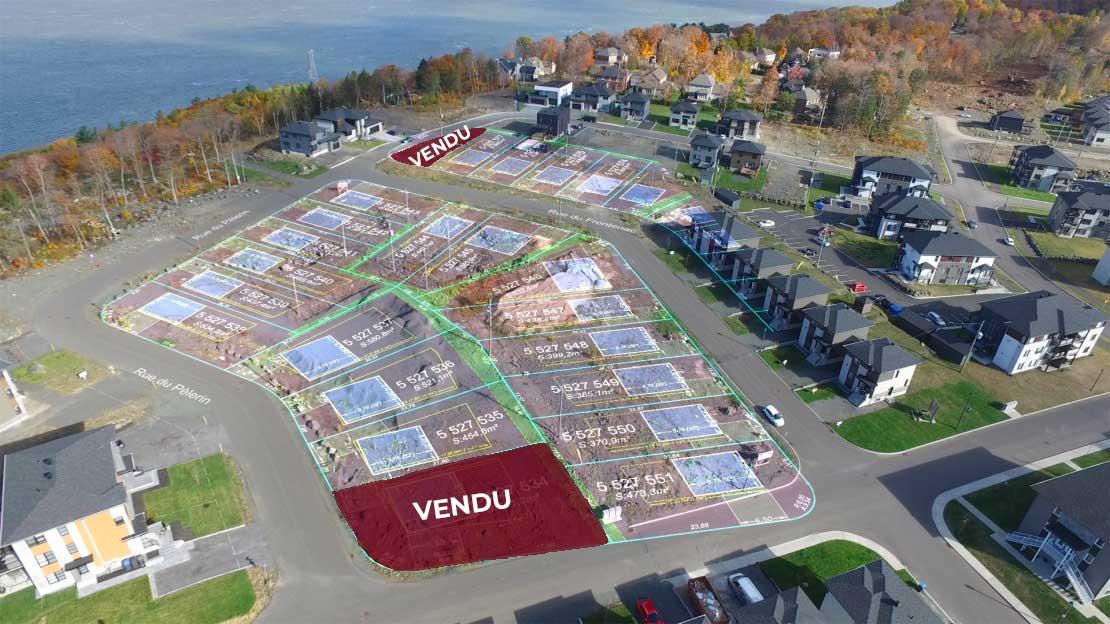 Terrains à vendre Roc-Pointe St-Nicolas